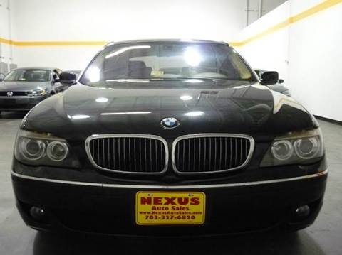 2007 BMW 7 Series for sale at Nexus Auto Sales in Chantilly VA