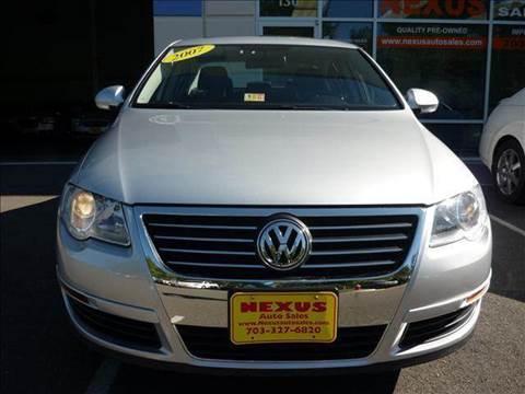 2007 Volkswagen Passat for sale at Nexus Auto Sales in Chantilly VA