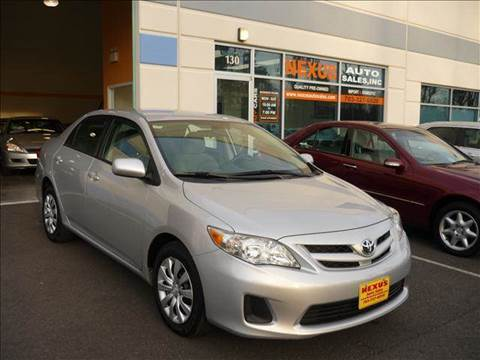 2012 Toyota Corolla for sale at Nexus Auto Sales in Chantilly VA