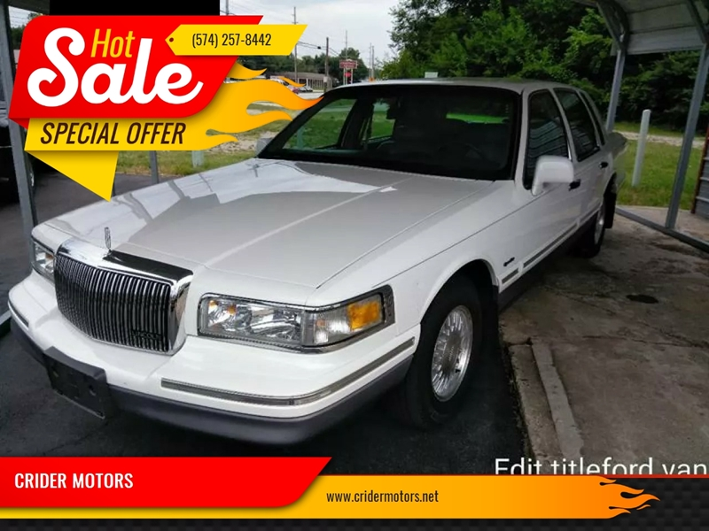 1997 Lincoln Town Car Signature 4dr Sedan In Mishawaka In Crider