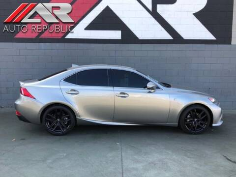 2015 Lexus IS 250 for sale at Auto Republic Fullerton in Fullerton CA