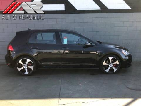 2015 Volkswagen Golf GTI for sale at Auto Republic Fullerton in Fullerton CA