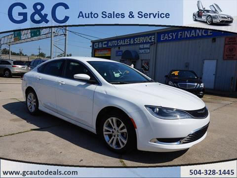 2015 Chrysler 200 for sale in Marrero, LA