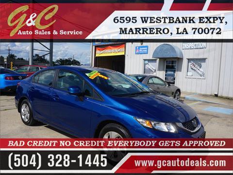 2013 Honda Civic for sale in Marrero, LA
