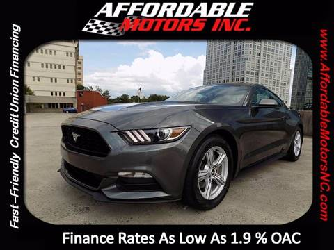 2015 Ford Mustang for sale at AFFORDABLE MOTORS INC in Winston Salem NC