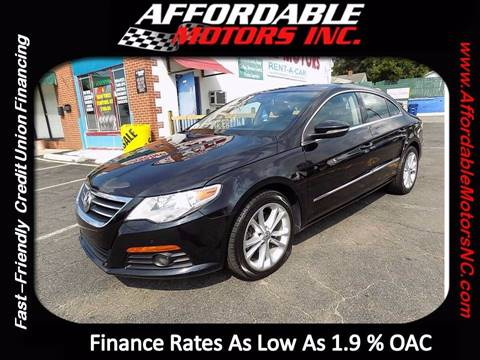 2010 Volkswagen CC for sale at AFFORDABLE MOTORS INC in Winston Salem NC