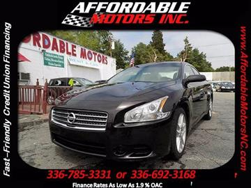 2010 Nissan Maxima for sale at AFFORDABLE MOTORS INC in Winston Salem NC