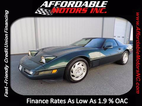 1992 Chevrolet Corvette for sale at AFFORDABLE MOTORS INC in Winston Salem NC