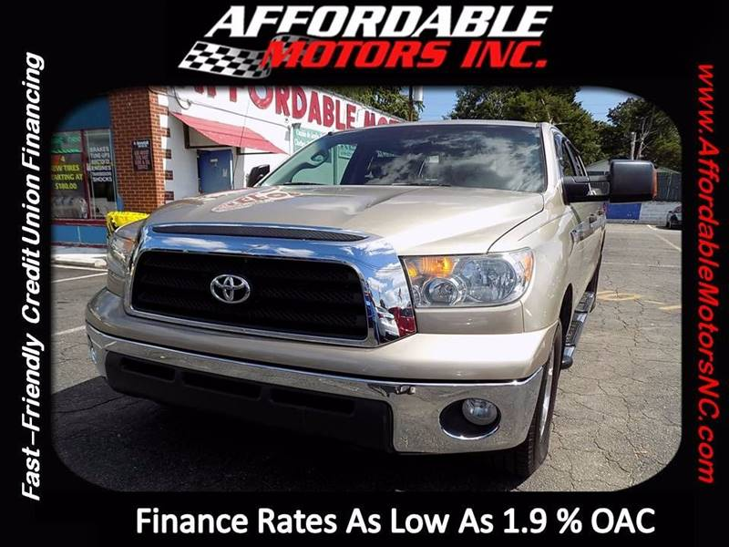 2007 Toyota Tundra for sale at AFFORDABLE MOTORS INC in Winston Salem NC