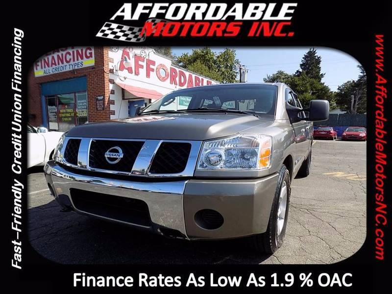 2007 Nissan Titan for sale at AFFORDABLE MOTORS INC in Winston Salem NC