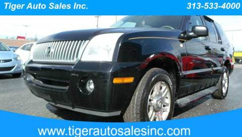2003 Mercury Mountaineer for sale at TIGER AUTO SALES INC in Redford MI
