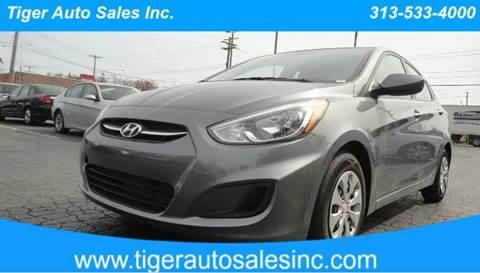 2015 Hyundai Accent for sale at TIGER AUTO SALES INC in Redford MI