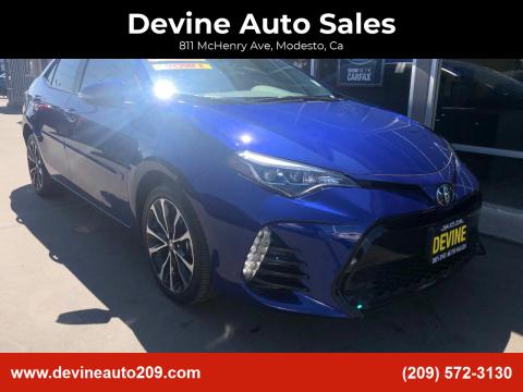 2018 Toyota Corolla for sale at Devine Auto Sales in Modesto CA