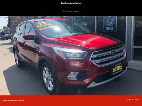 2019 Ford Escape for sale at Devine Auto Sales in Modesto CA