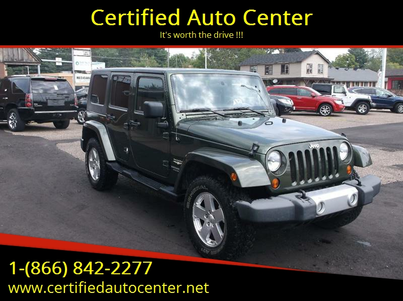 2008 Jeep Wrangler Unlimited For Sale At Certified Auto Center In Wausau WI