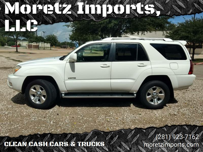 2003 Toyota 4Runner For Sale At Moretz Imports, LLC In Spring TX