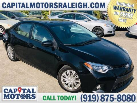 2016 Toyota Corolla for sale at Capital Motors in Raleigh NC
