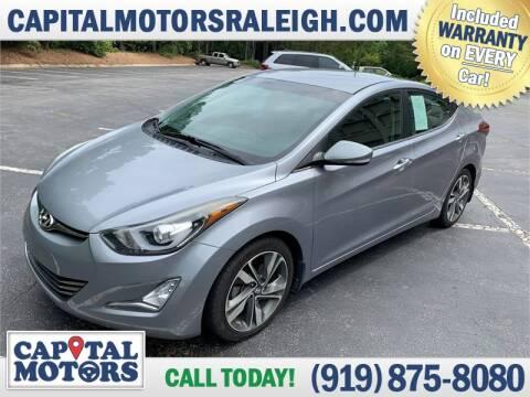2015 Hyundai Elantra for sale at Capital Motors in Raleigh NC