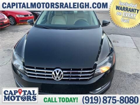 2012 Volkswagen Passat for sale at Capital Motors in Raleigh NC
