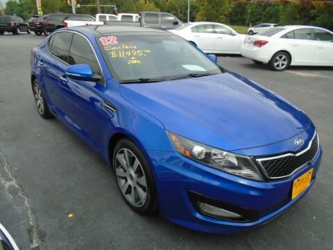 2012 Kia Optima for sale at River City Auto Sales in Cottage Hills IL