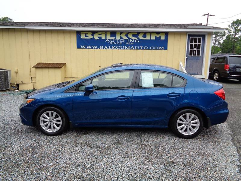 Honda Civic Wilmington Nc >> 2012 Honda Civic Ex 4dr Sedan In Wilmington Nc Balkcum Auto Inc