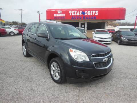 2013 Chevrolet Equinox LS for sale at Texas Drive LLC in Garland TX