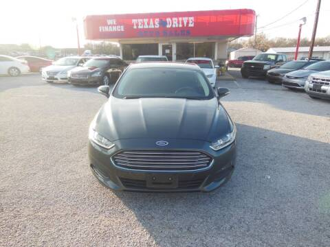 2015 Ford Fusion SE for sale at Texas Drive LLC in Garland TX