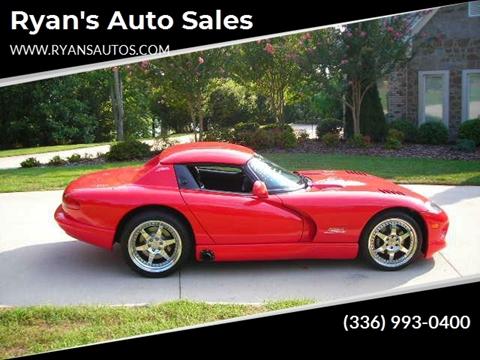 Ryan Auto Sales >> 1999 Dodge Viper For Sale In Kernersville Nc