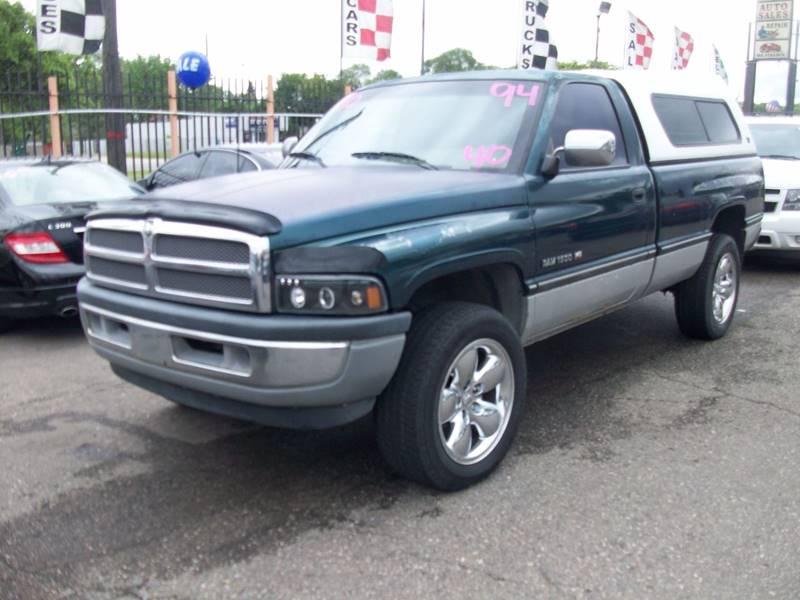 1994 Dodge Ram Pickup 1500  Miles 178321Color Green Stock 3956b VIN 1B7HF16Z8RS549881