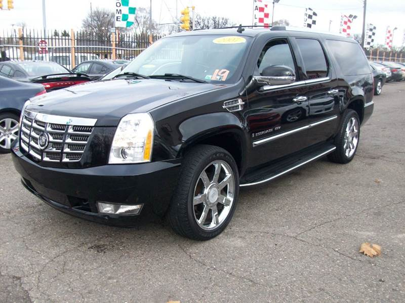 2007 Cadillac Escalade Esv  Miles 110100Color black Stock 3876b VIN 1GYFK66817R352475
