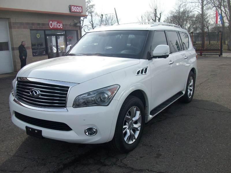 2012 Infiniti Qx56  Miles 86541Color White Stock 3588b VIN JN8AZ2NE8C9021869