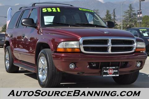 2002 Dodge Durango for sale in Banning, CA