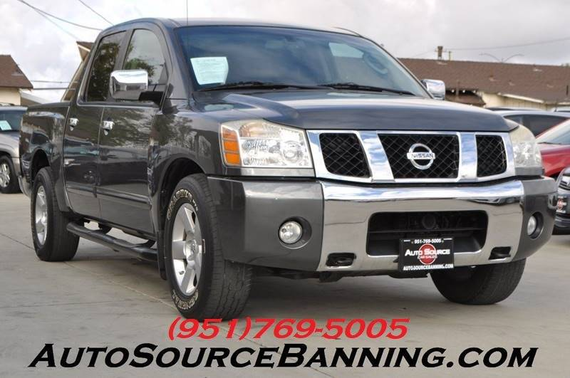 nissan titan 2007. 2007 nissan titan for sale at auto source in banning ca