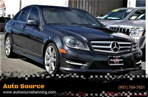 2013 Mercedes-Benz C-Class for sale at Auto Source II in Banning CA