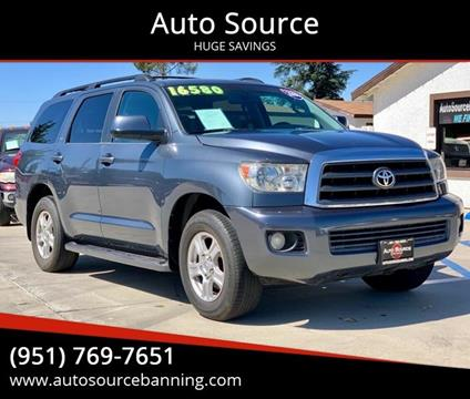 2008 Toyota Sequoia for sale at Auto Source II in Banning CA