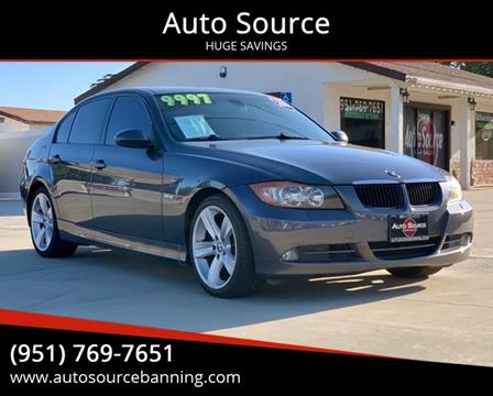 2008 BMW 3 Series for sale at Auto Source II in Banning CA