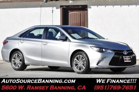 2016 Toyota Camry for sale at Auto Source in Banning CA