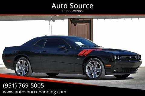 2015 Dodge Challenger R/T for sale at Auto Source in Banning CA