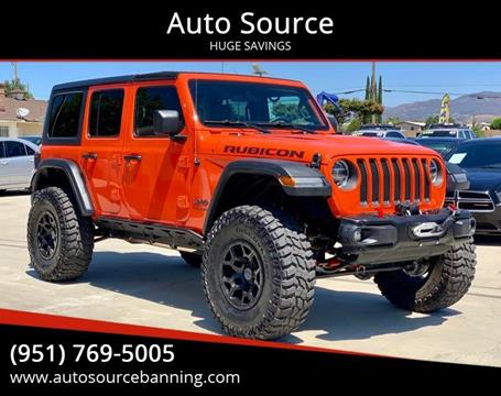 2018 Jeep Wrangler Unlimited Rubicon for sale at Auto Source in Banning CA
