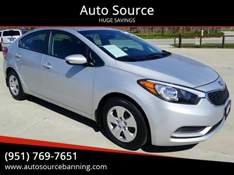 2016 Kia Forte for sale at Auto Source II in Banning CA