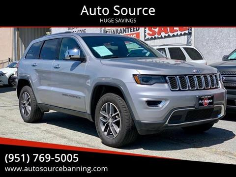 2018 Jeep Grand Cherokee Limited for sale at Auto Source II in Banning CA