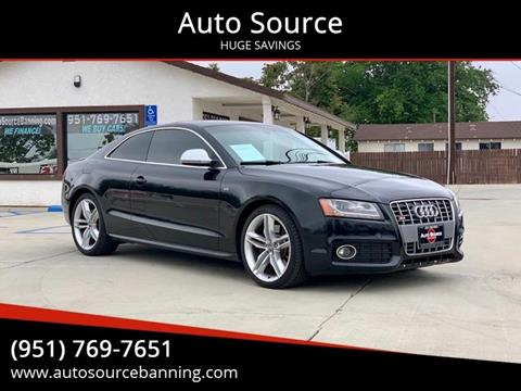2008 Audi S5 quattro for sale at Auto Source II in Banning CA