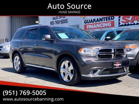2014 Dodge Durango for sale at Auto Source in Banning CA