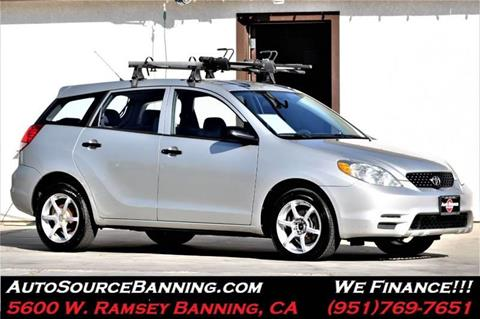 Toyota Matrix For Sale In Banning Ca Auto Source