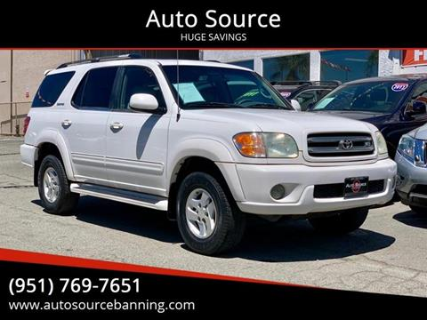 2002 Toyota Sequoia for sale at Auto Source II in Banning CA