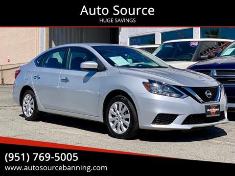 2017 Nissan Sentra for sale at Auto Source in Banning CA
