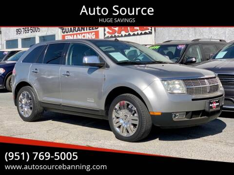 2008 Lincoln MKX for sale at Auto Source in Banning CA