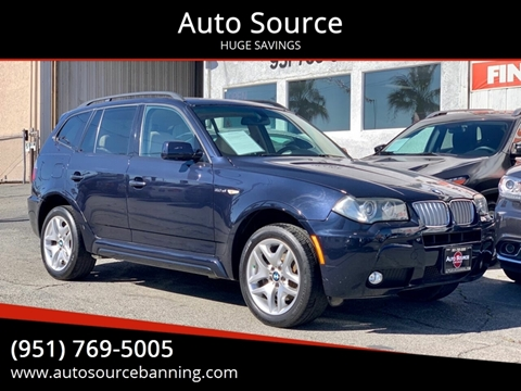 2008 BMW X3 for sale at Auto Source in Banning CA