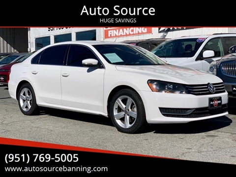 2015 Volkswagen Passat for sale at Auto Source in Banning CA