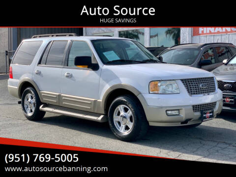 2005 Ford Expedition for sale at Auto Source in Banning CA